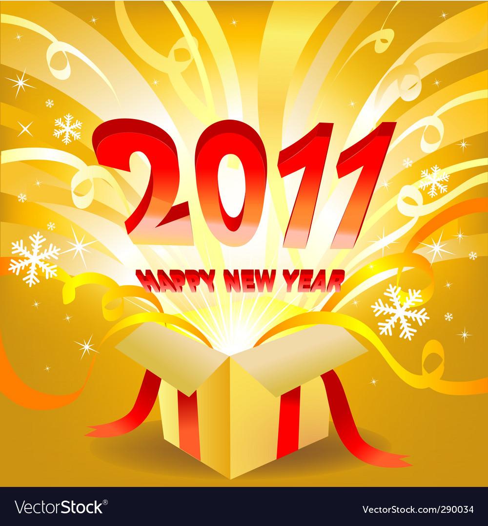 Magic new year box vector | Price: 1 Credit (USD $1)