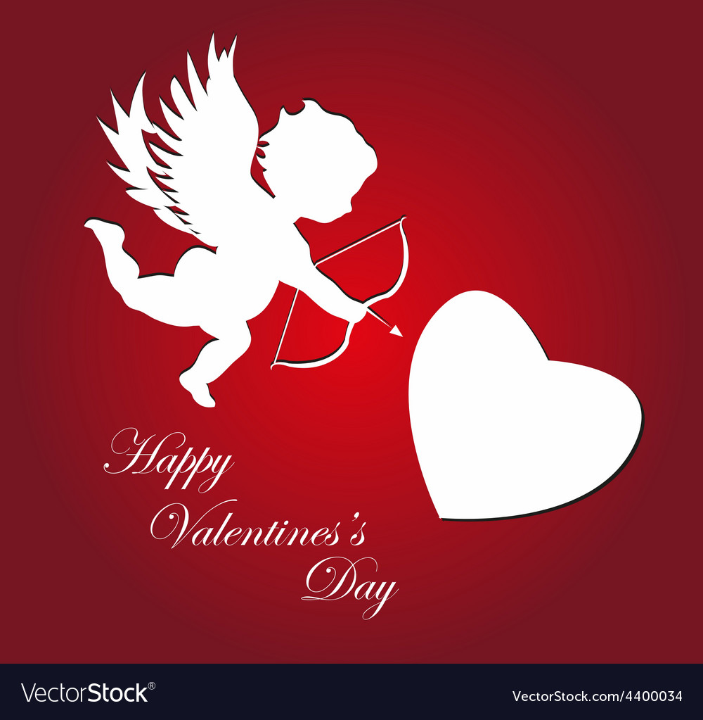 Valentines day cupid background vector | Price: 3 Credit (USD $3)