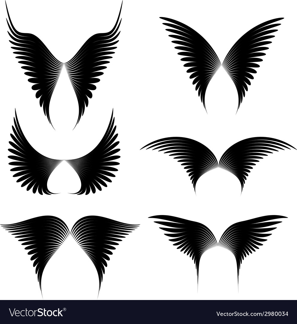 Wings set vector | Price: 1 Credit (USD $1)