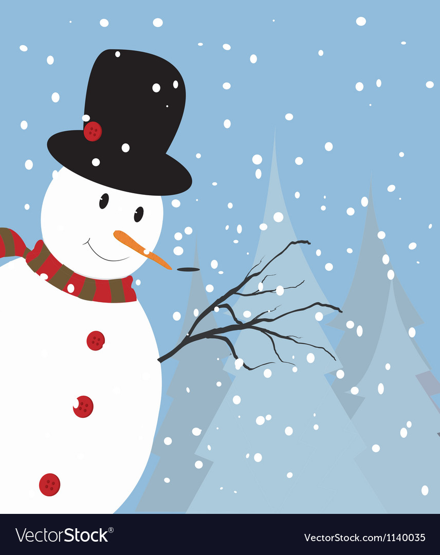 Christmas snowman vector | Price: 1 Credit (USD $1)