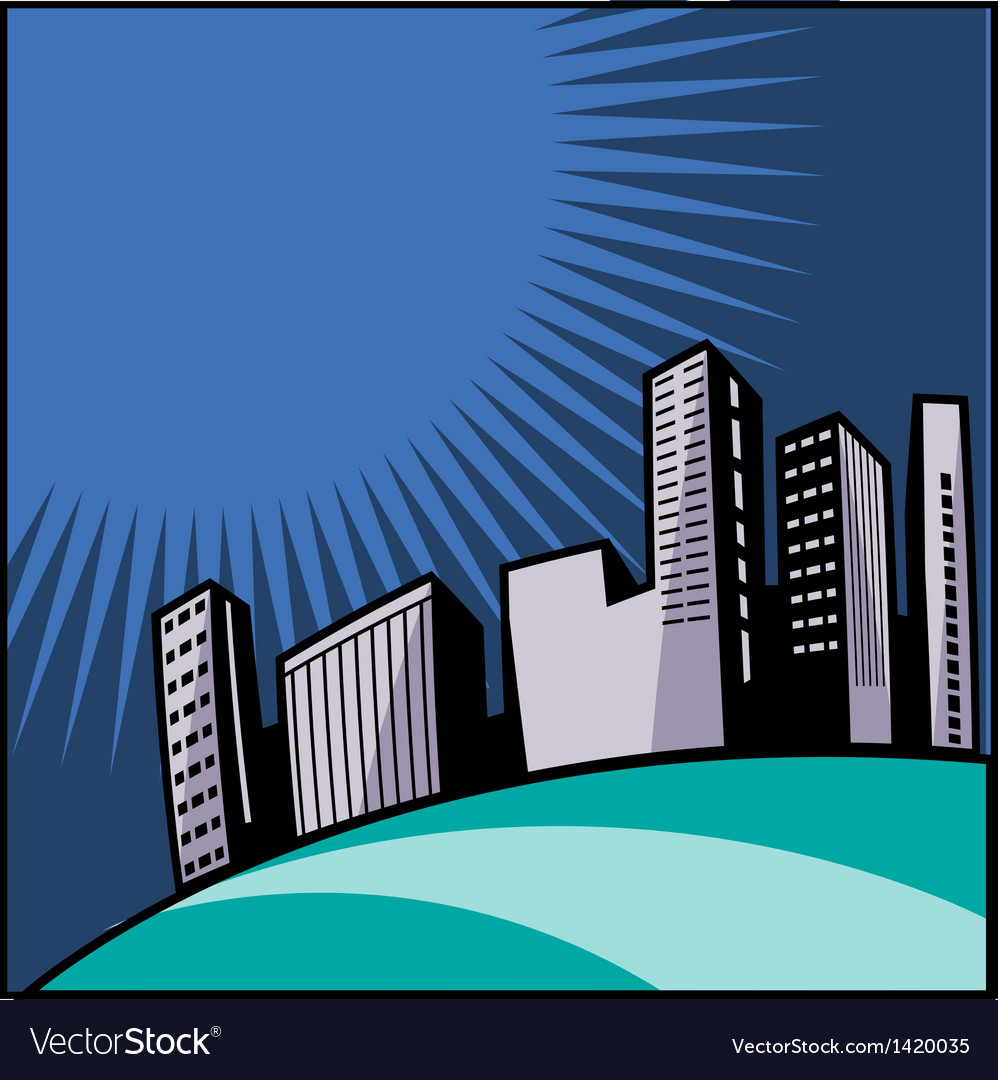 City blocks background vector | Price: 1 Credit (USD $1)