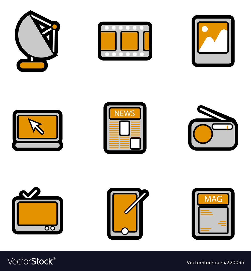Electronic object icon vector | Price: 1 Credit (USD $1)