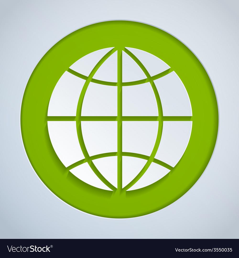 Globe paper green vector | Price: 1 Credit (USD $1)