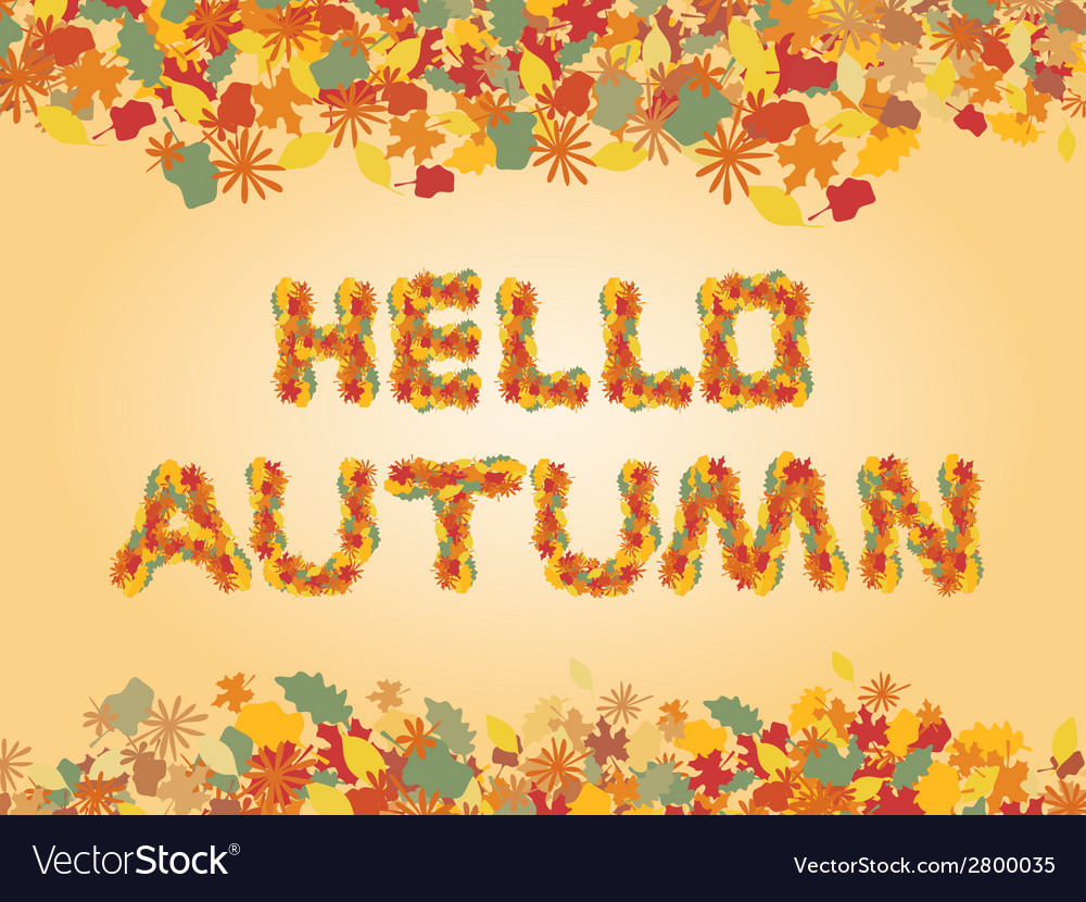 Hello autumn vector | Price: 1 Credit (USD $1)