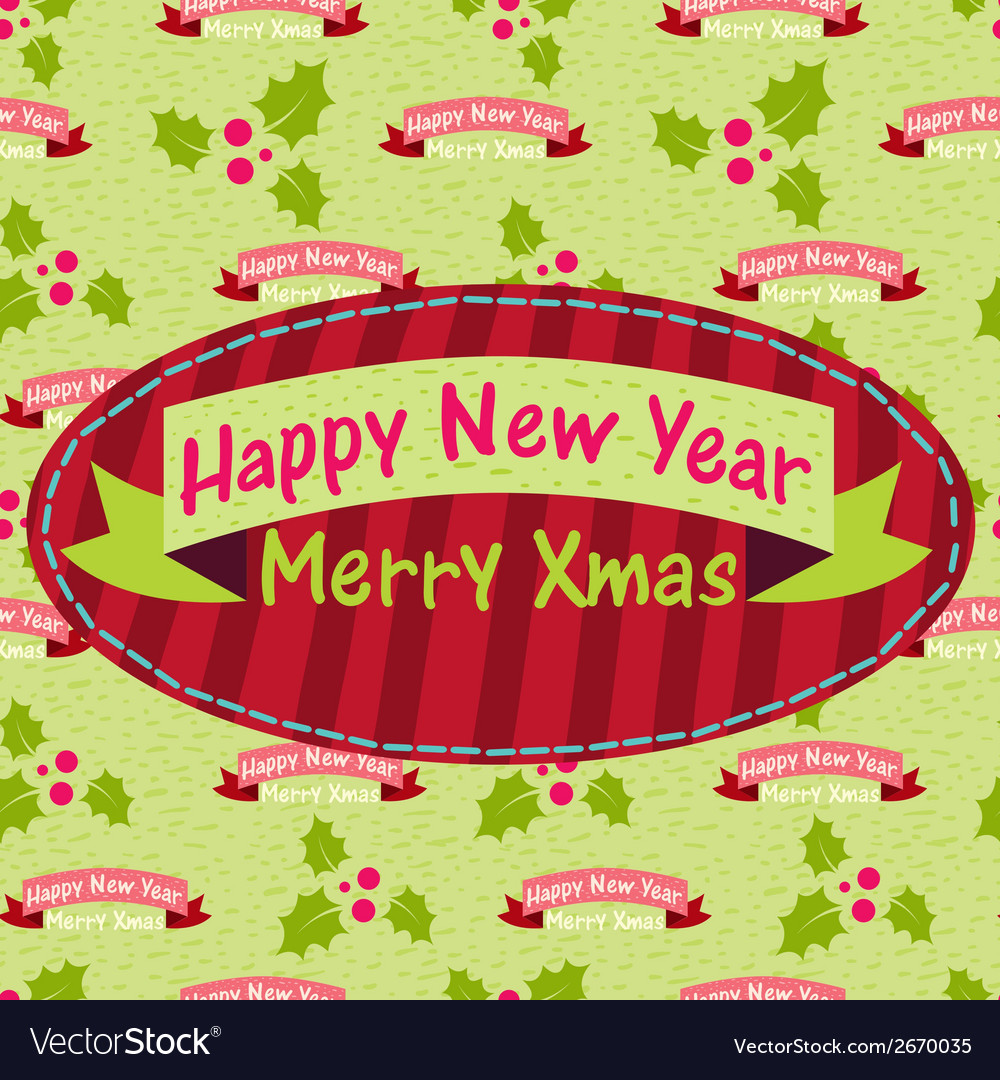 New year and christmas greeting card with the vector | Price: 1 Credit (USD $1)