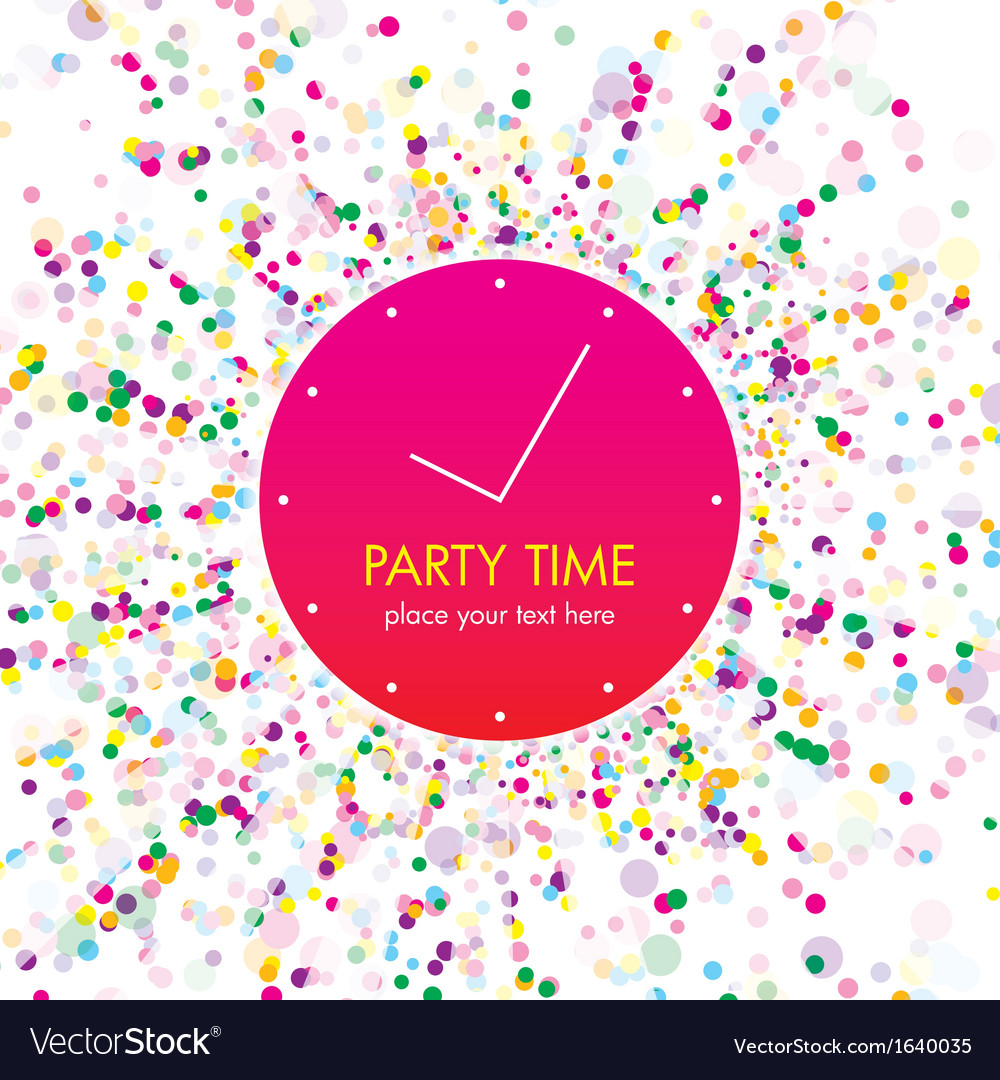 Party time card vector | Price: 1 Credit (USD $1)