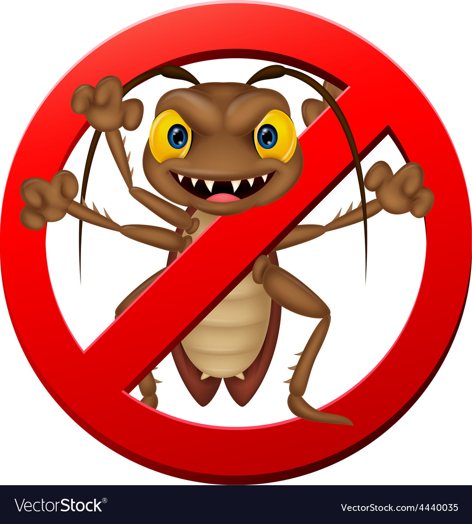 Scary cockroach cartoon vector | Price: 1 Credit (USD $1)