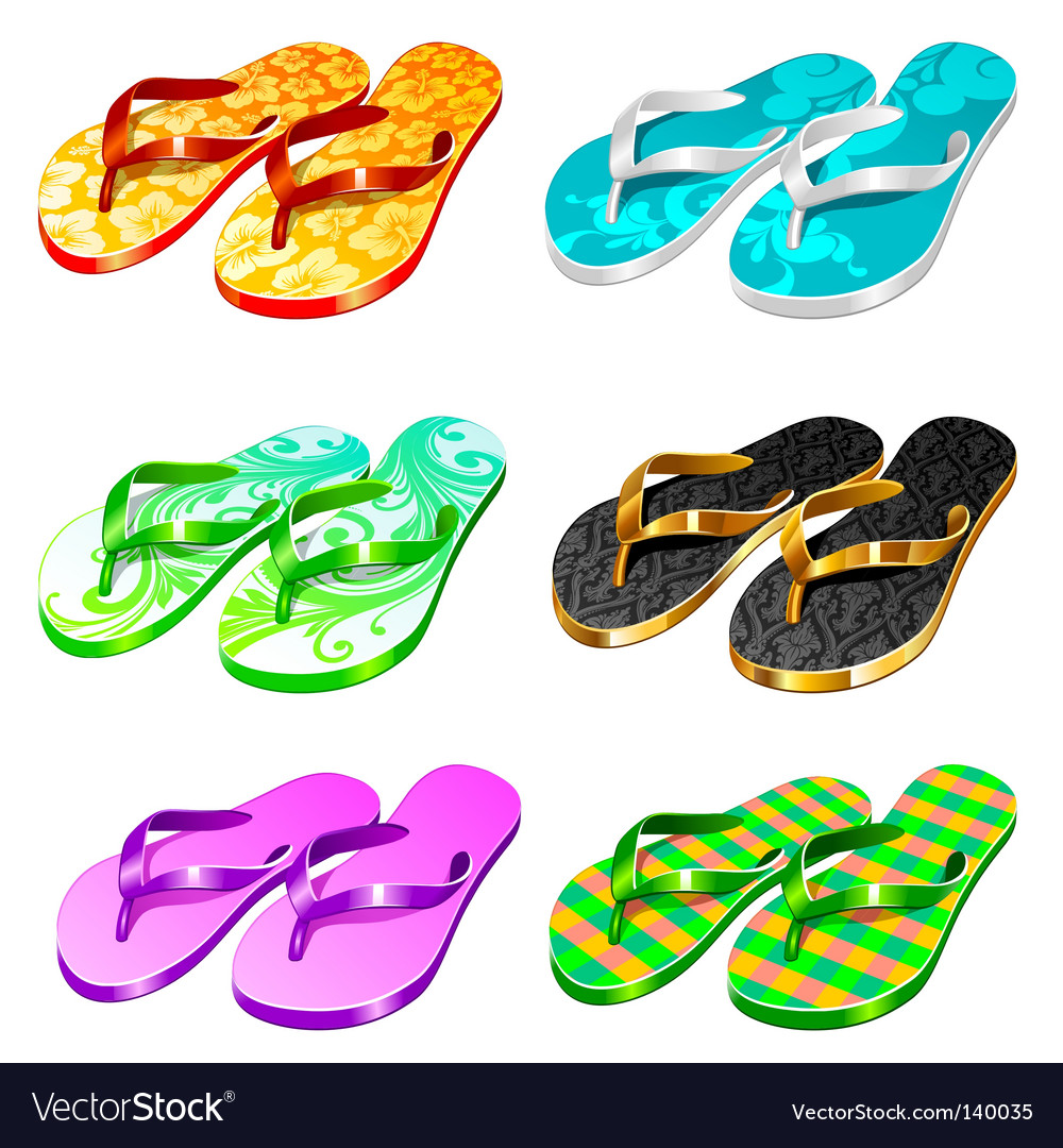 Slippers vector | Price: 3 Credit (USD $3)