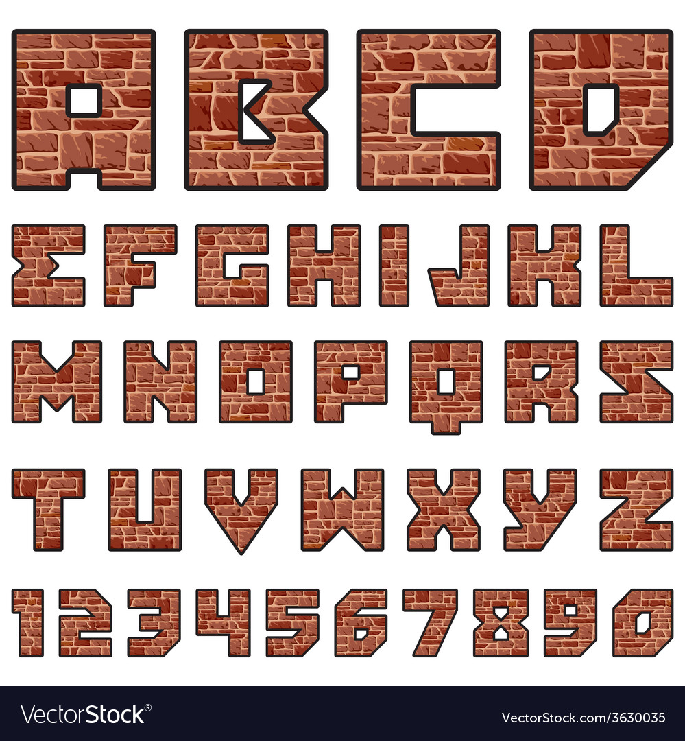 Stone alphabet vector | Price: 1 Credit (USD $1)