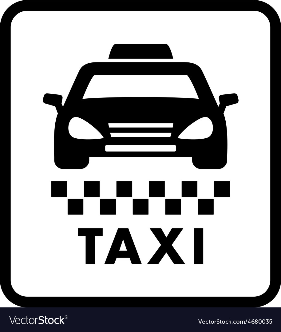 Taxi car on white cab icon vector | Price: 1 Credit (USD $1)