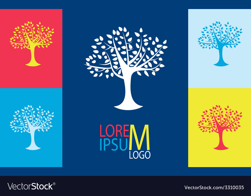 Tree logo template growing business concept vector | Price: 1 Credit (USD $1)