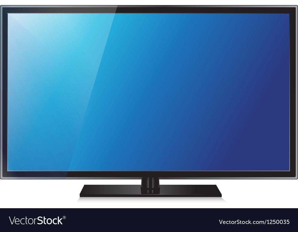 Tv flat screen lcd plasma realistic vector | Price: 1 Credit (USD $1)