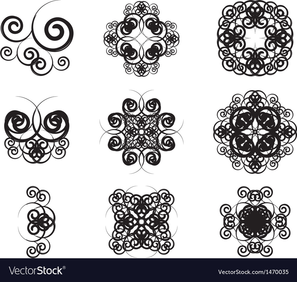Vintage symbols vector | Price: 1 Credit (USD $1)