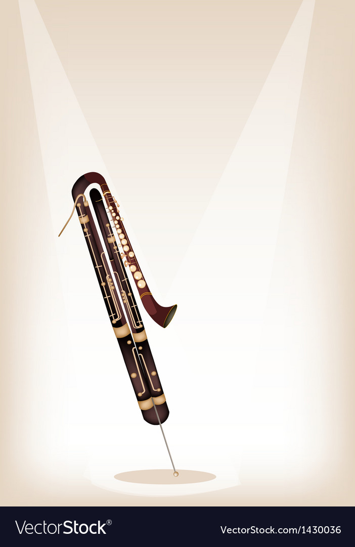 A classical contrabassoon on brown stage vector | Price: 1 Credit (USD $1)