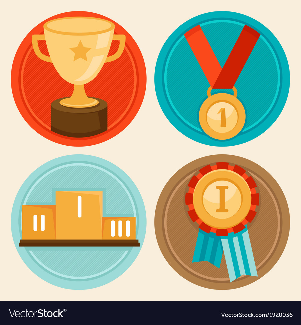 Awards medals vector | Price: 1 Credit (USD $1)