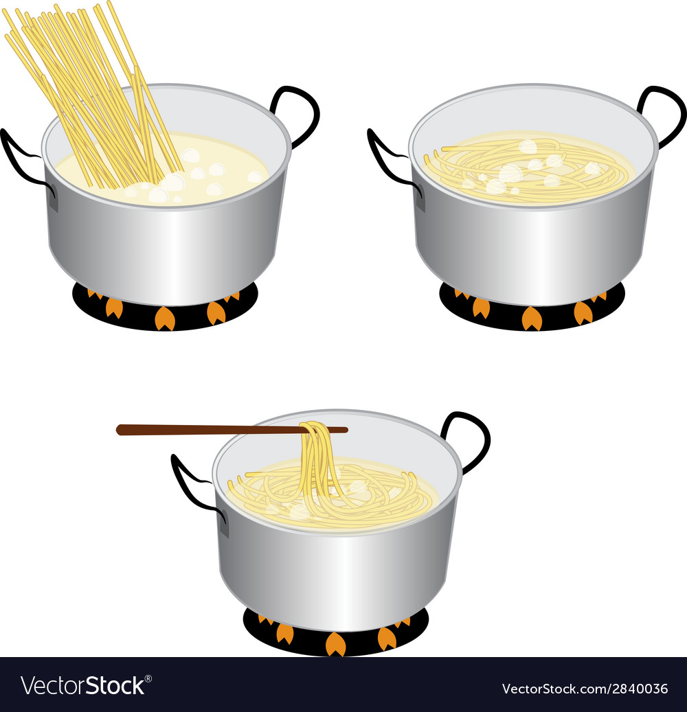Cook spaghetti vector | Price: 1 Credit (USD $1)