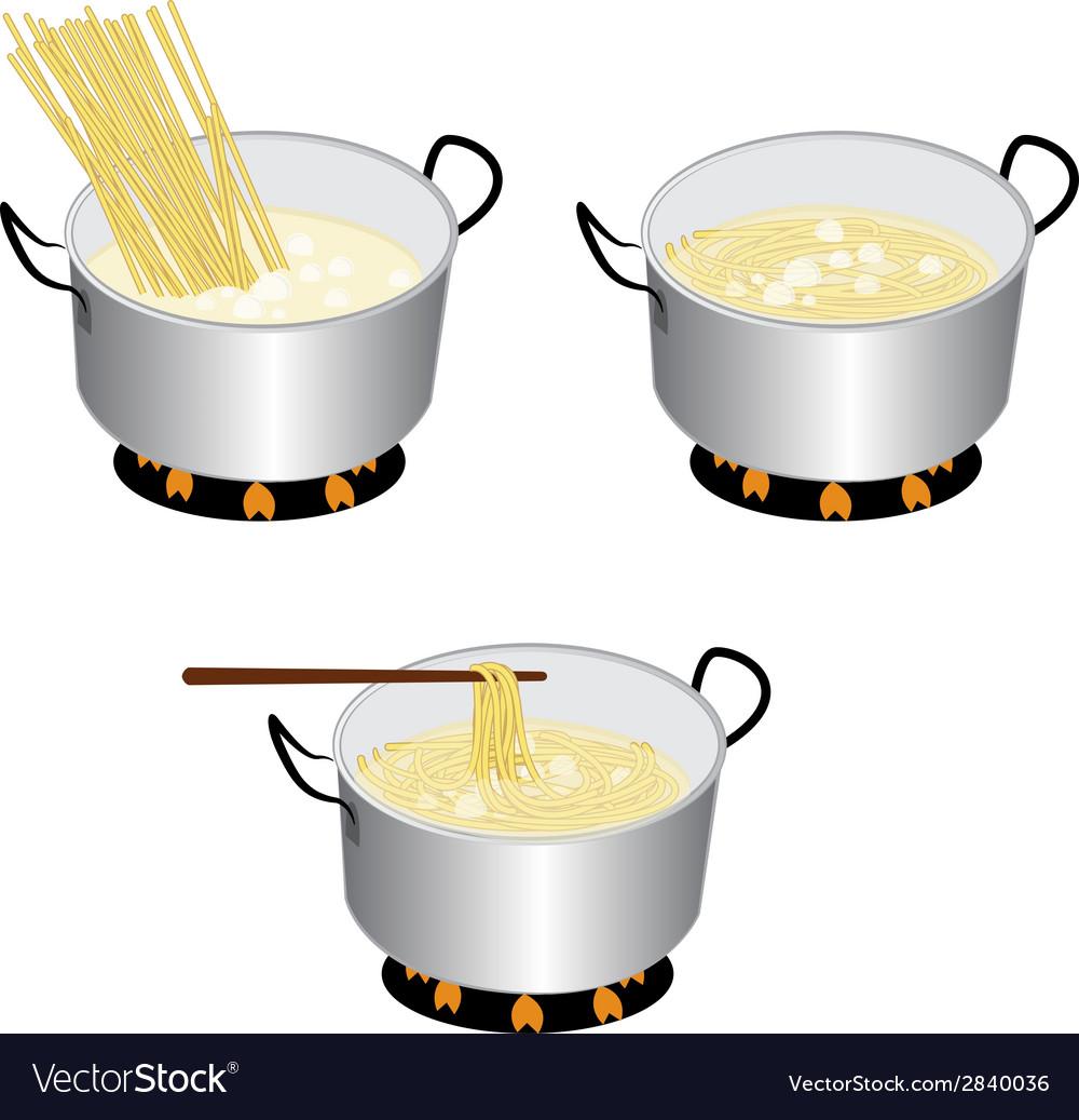 Cook spaghetti vector | Price: 1 Credit (USD $1)