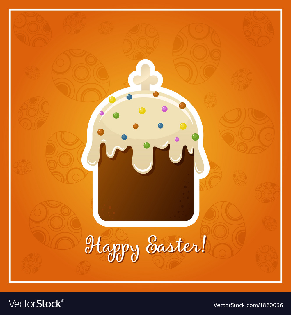 Easter background with easter cake illistration vector | Price: 1 Credit (USD $1)