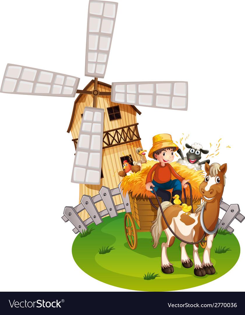 Farm boy vector | Price: 1 Credit (USD $1)