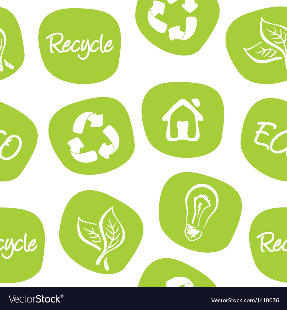 Green environment and recycle background vector | Price: 1 Credit (USD $1)