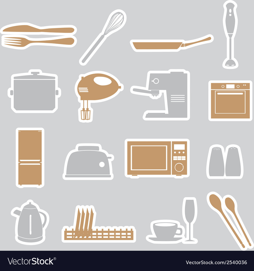Kitchen stickers set eps10 vector | Price: 1 Credit (USD $1)