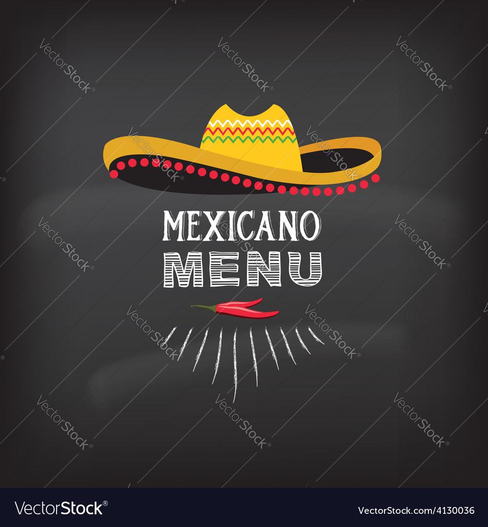 Menu mexican design vector | Price: 1 Credit (USD $1)
