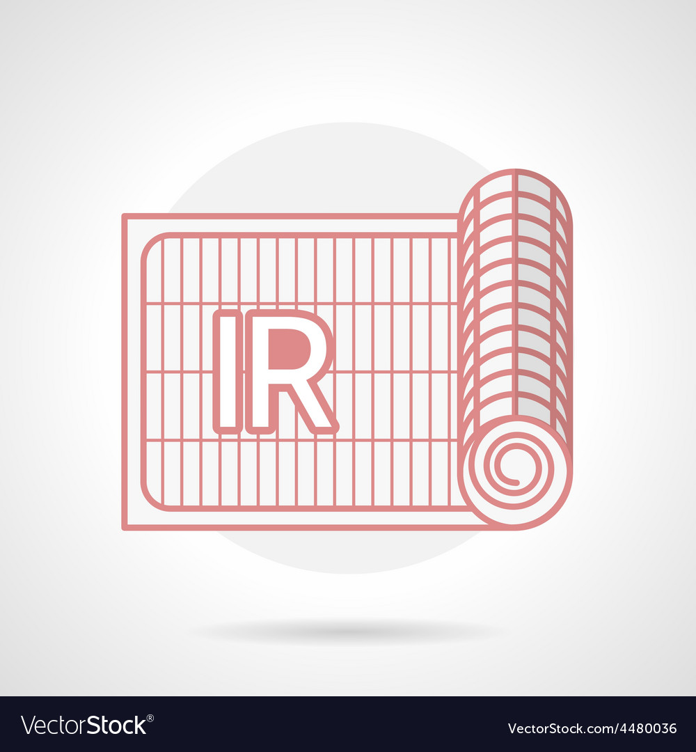 Red icon for ir underfloor heating vector | Price: 1 Credit (USD $1)
