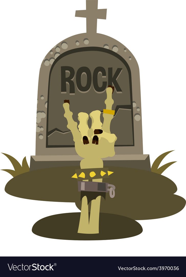 Rock is dead and sign of the horns vector | Price: 1 Credit (USD $1)