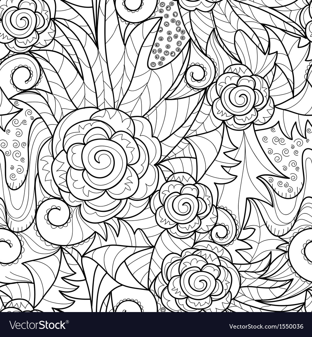 Seamless herbal pattern vector | Price: 1 Credit (USD $1)