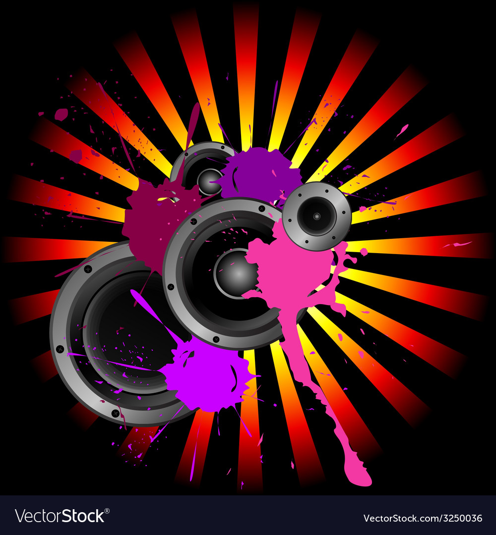 Speakers and sound vector | Price: 1 Credit (USD $1)
