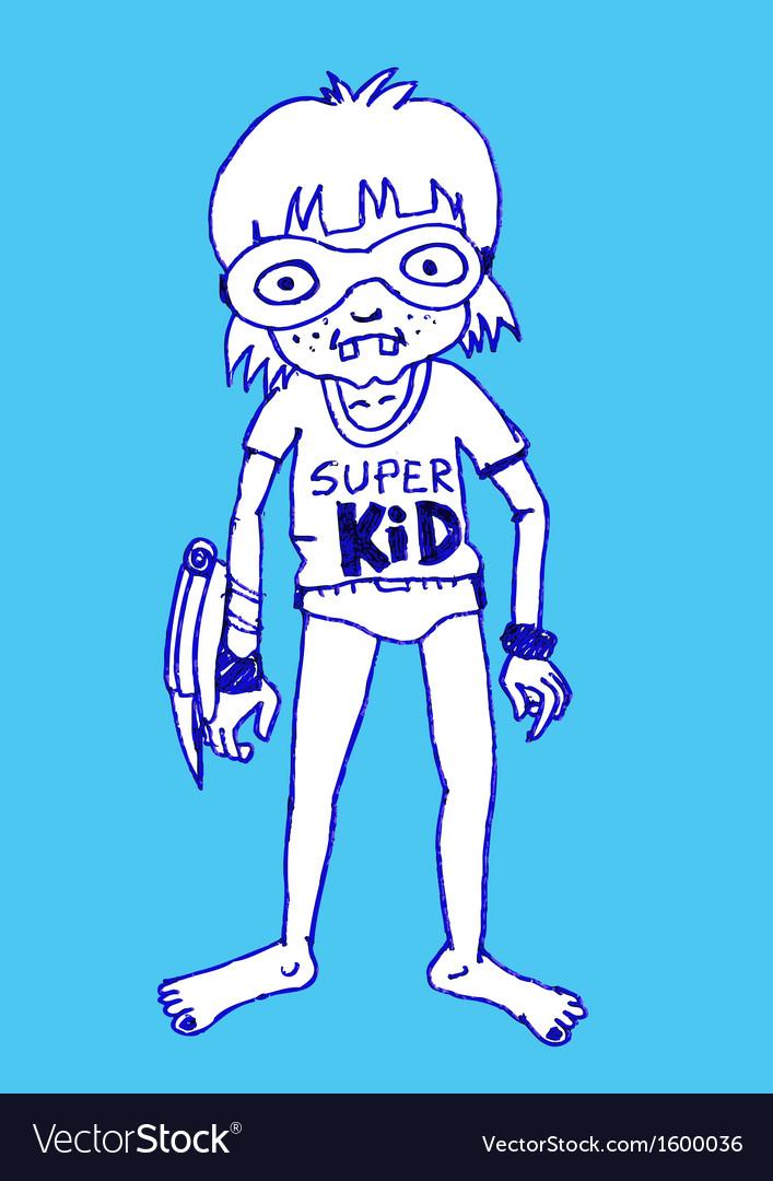 Super kid hero boy cartoon vector | Price: 1 Credit (USD $1)