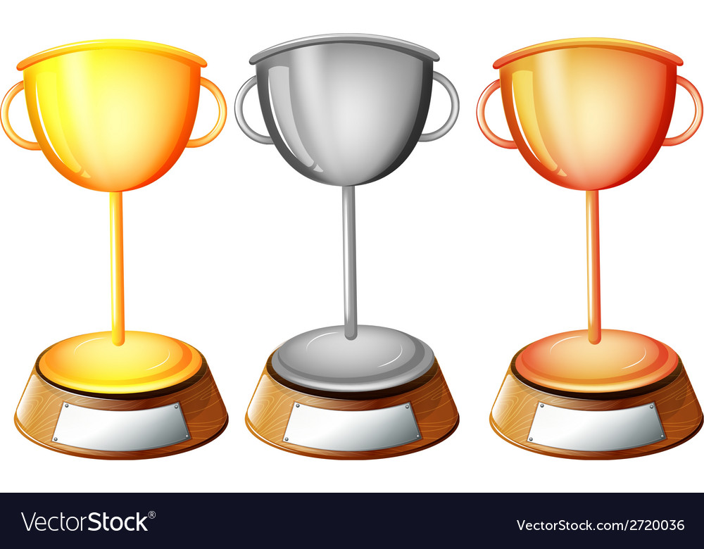 Three trophies vector | Price: 1 Credit (USD $1)