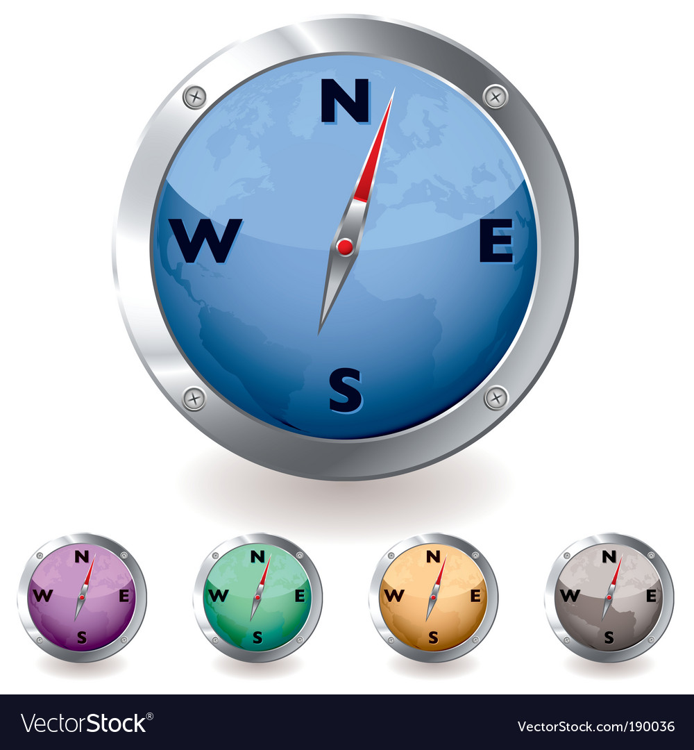 World globe compass vector | Price: 1 Credit (USD $1)