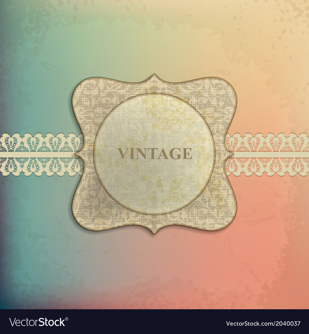 Card design with vintage background vector