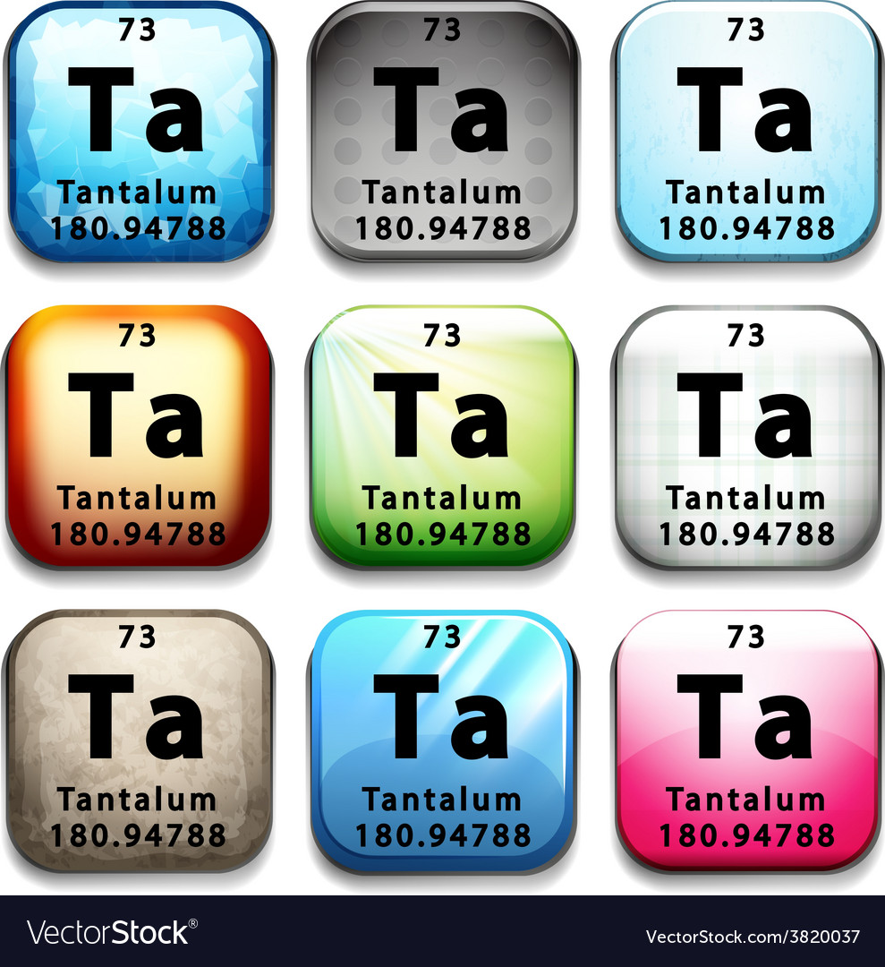 The chemical element tantalum vector | Price: 1 Credit (USD $1)