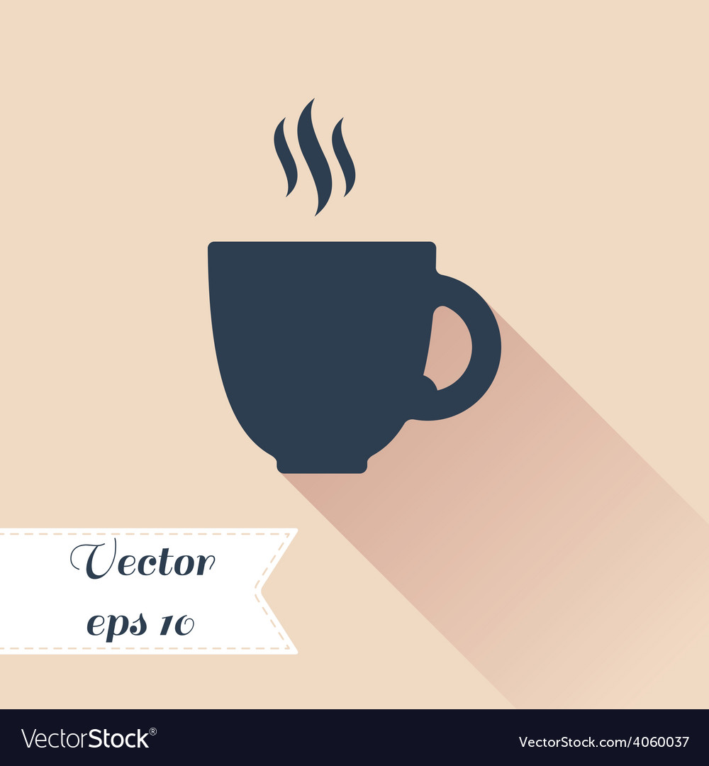 Cofee cup silhouette icon vector | Price: 1 Credit (USD $1)
