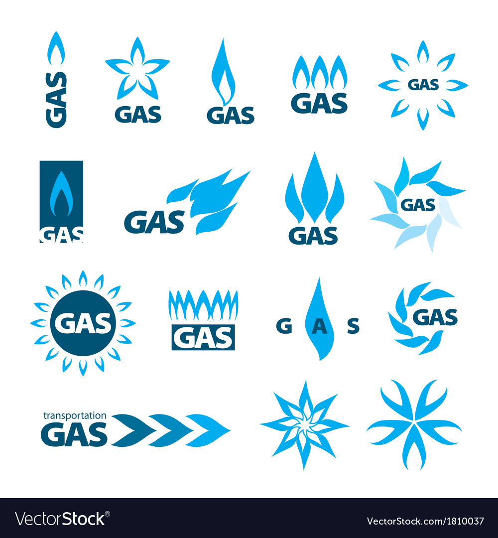 Collection of logos of natural gas vector | Price: 1 Credit (USD $1)