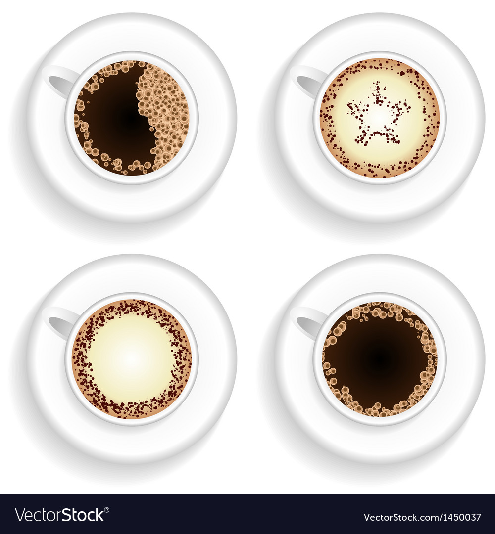 Cup of coffee and cappuccino vector | Price: 1 Credit (USD $1)