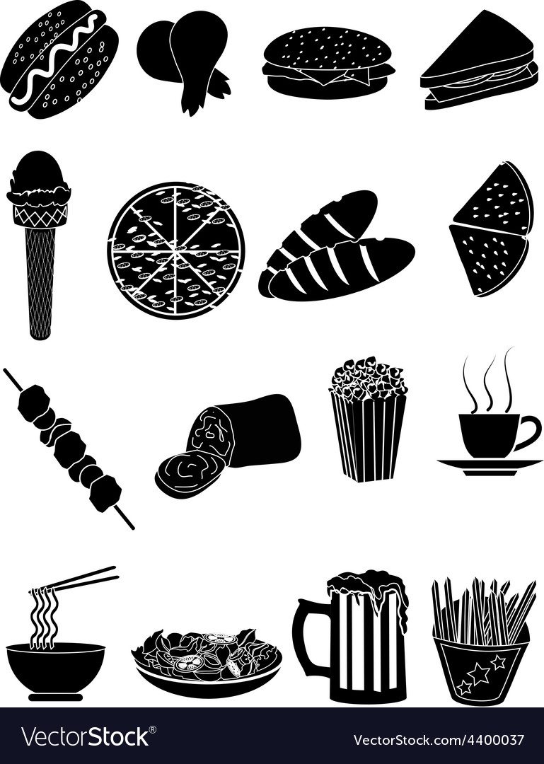 Fast food icons set vector | Price: 3 Credit (USD $3)