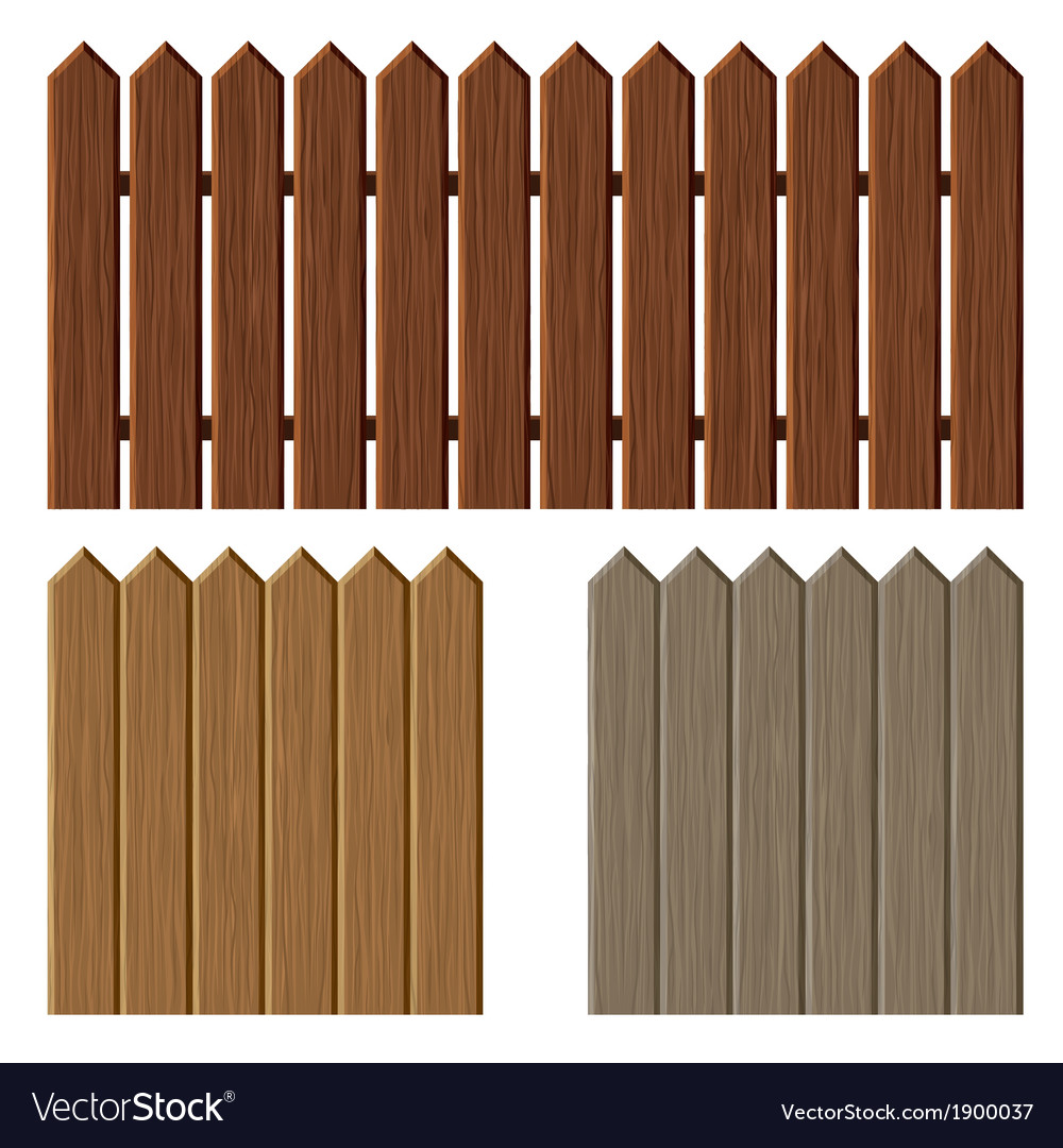 Fence with different wooden texture pattern vector | Price: 1 Credit (USD $1)