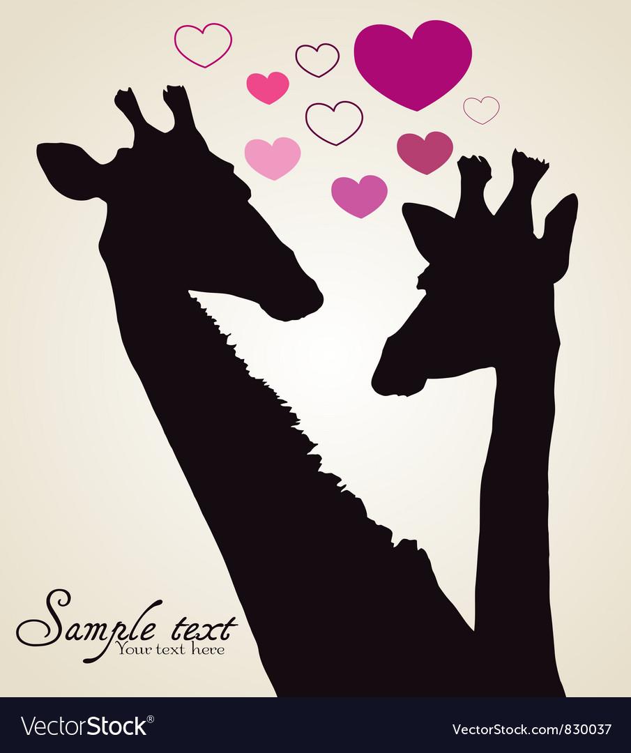 Giraffe in love vector | Price: 1 Credit (USD $1)