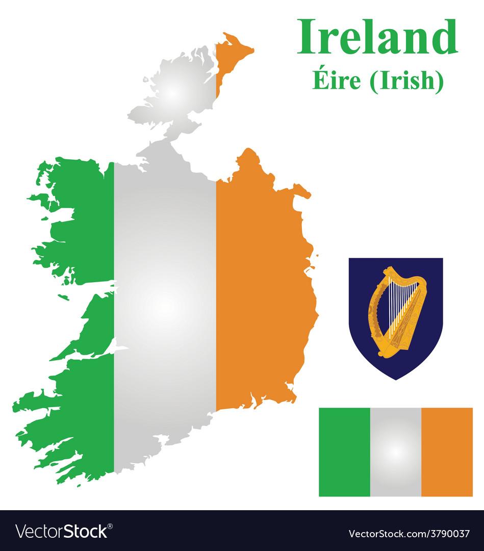 Irish flag vector | Price: 1 Credit (USD $1)