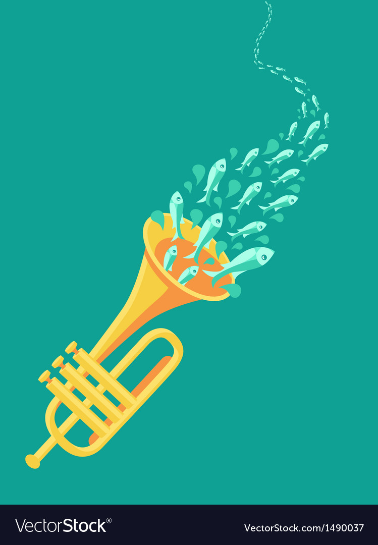 Music poster in flat retro style vector | Price: 1 Credit (USD $1)
