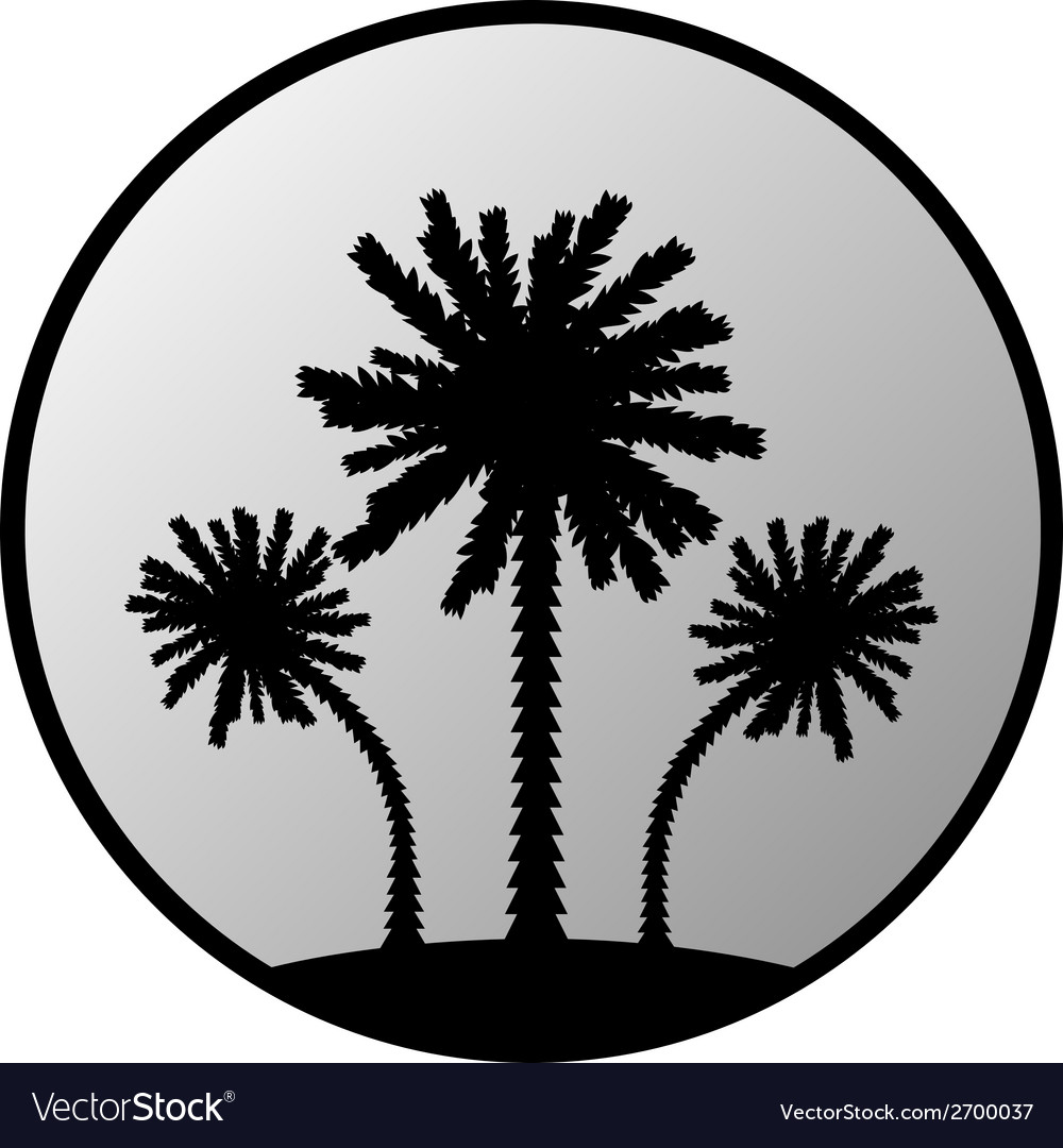 Palm button vector | Price: 1 Credit (USD $1)