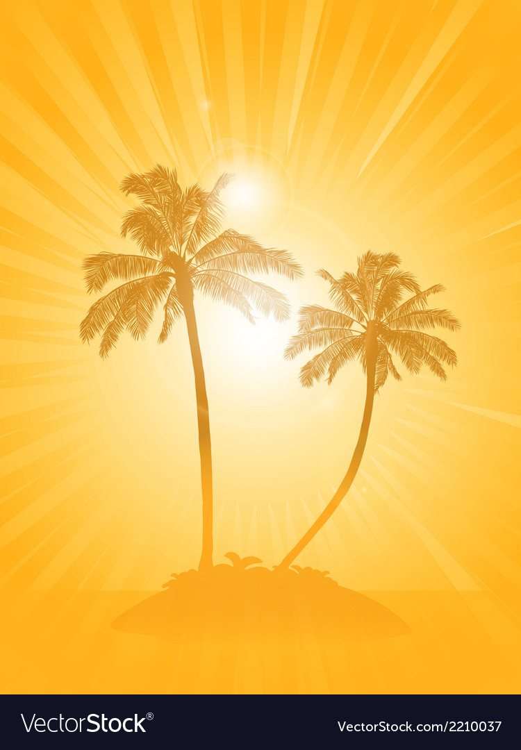 Palm tree silhouette background vector | Price: 1 Credit (USD $1)