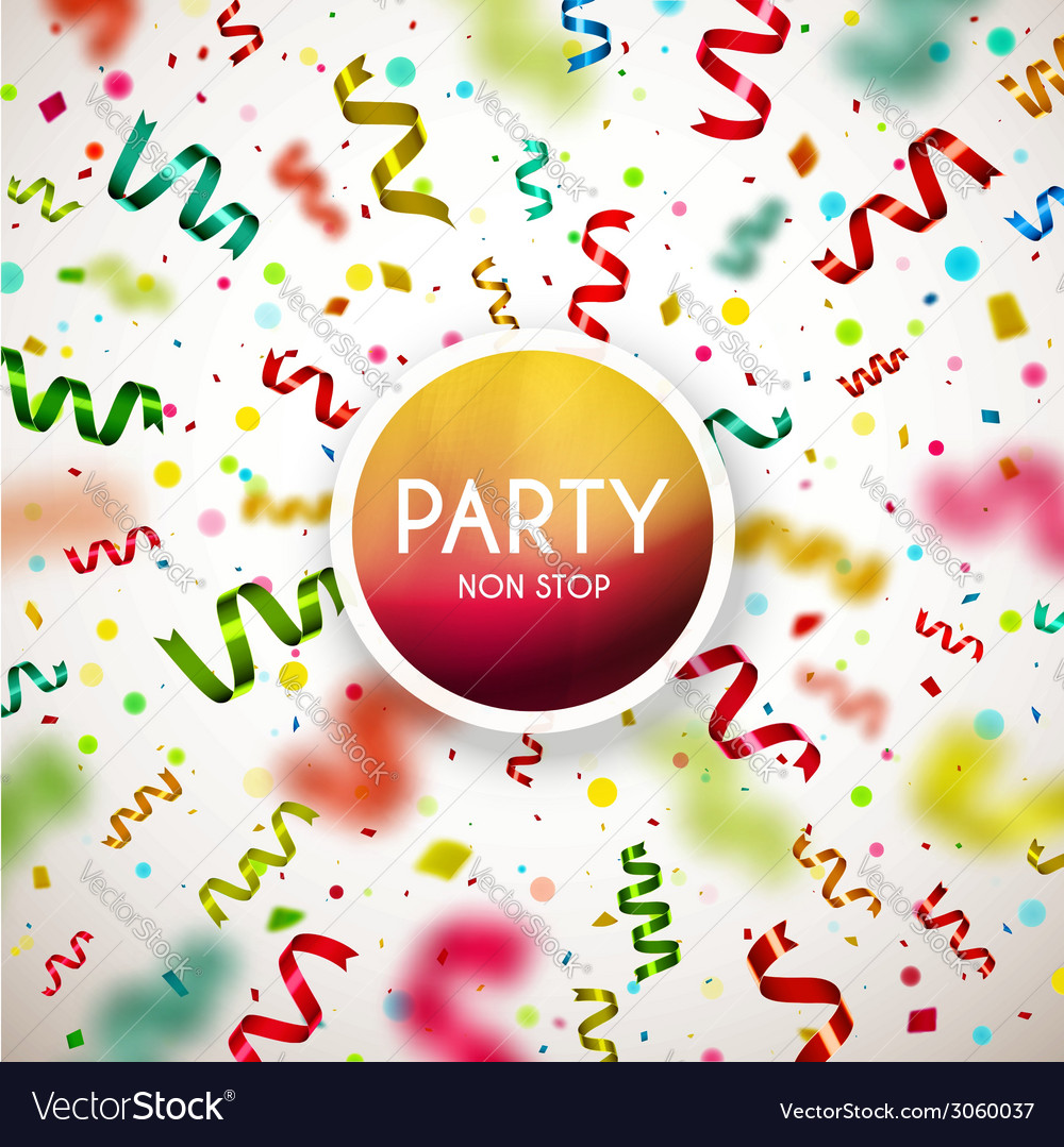 Party non stop vector