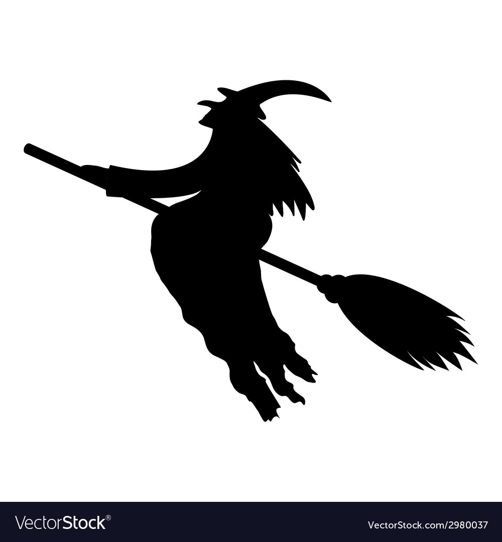 Silhouette of a witch vector | Price: 1 Credit (USD $1)