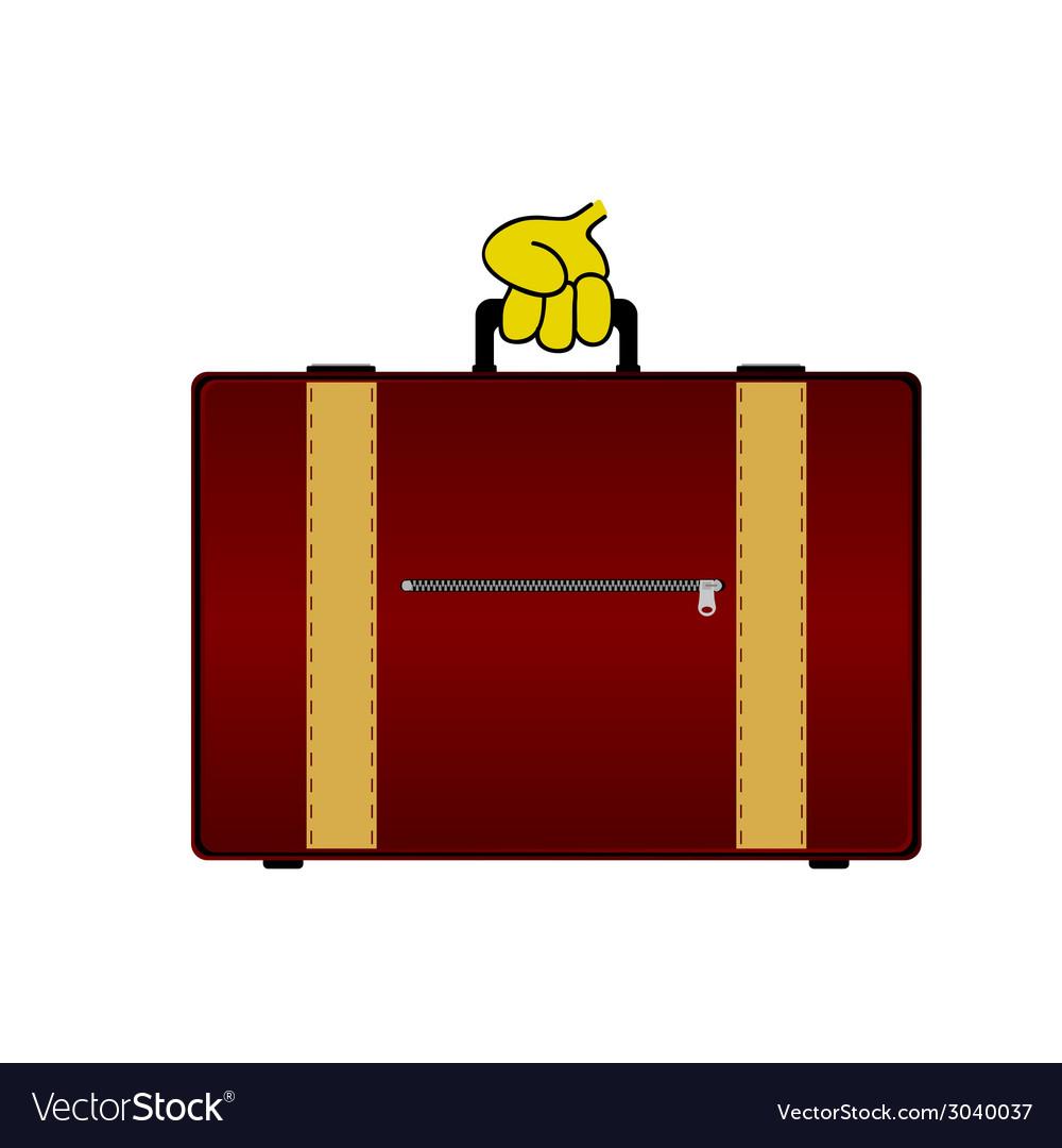 Suitcase color vector | Price: 1 Credit (USD $1)
