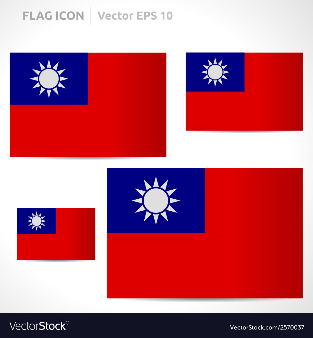 Taiwan flag template vector | Price: 1 Credit (USD $1)