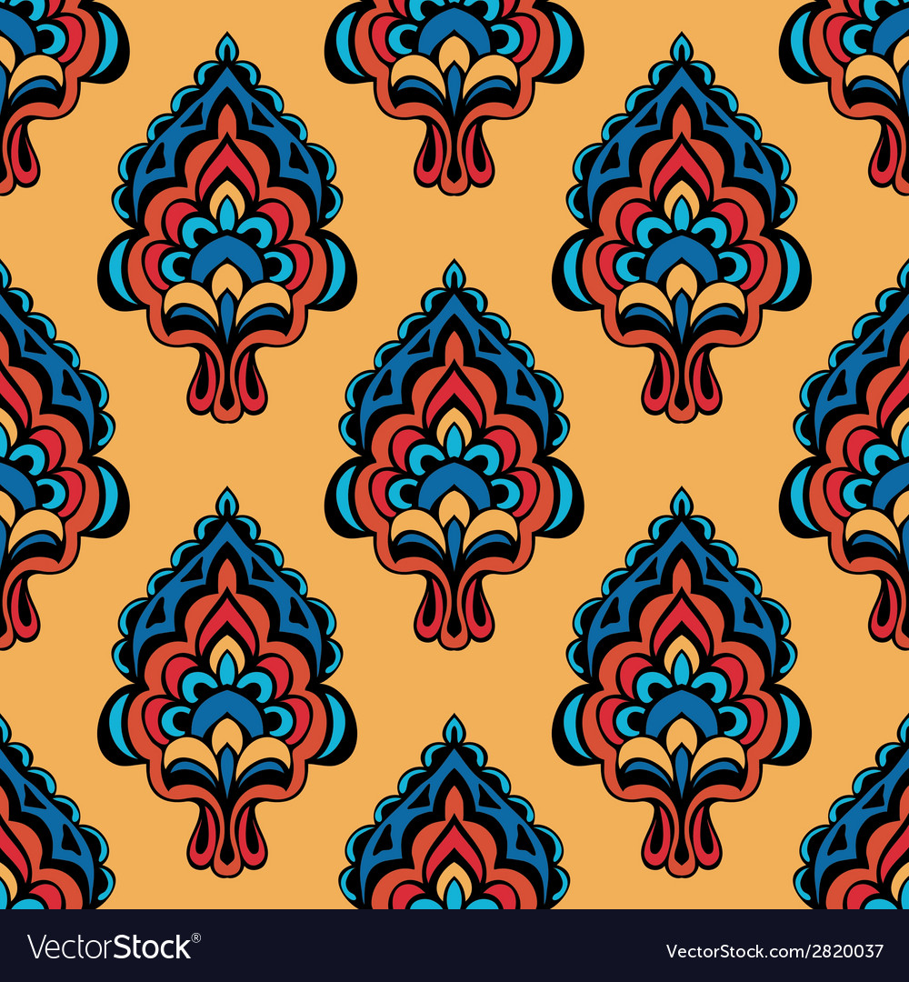 Vintage damask floral oriental vector | Price: 1 Credit (USD $1)